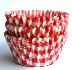 gingham cupcake cups | Cupcake Liners Red Picnic Gingham Baking Cups 45 by sweetestelle