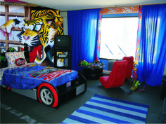 Who said the kids can't have a great bedroom. A little imagination can go a long way. www.mural24.co.uk