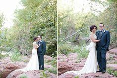 Sedona wedding photographer. Bride and groom portrait.