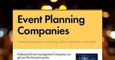 It is indeed wise to hire professional teams because they have connections within their field. Worry not; the professional Event management Companies can get you the best price quotes on top of their excellent and reliable service. You can also depend on them if you want to throw a party with a theme.