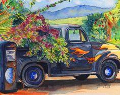 Hanapepe Truck 8x10 print from Kauai Hawaii by kauaiartist on Etsy, $25.00
