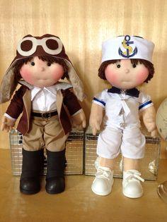 Bonecos Aviador e Marinheiro.... Para festa volta ao mundo ... Arquitetas da Arte