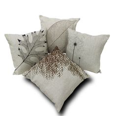 Vintage Leaf Cotton Linen Square Sofa Bed Home Decor Throw Pillow Case Cover  #Unbranded