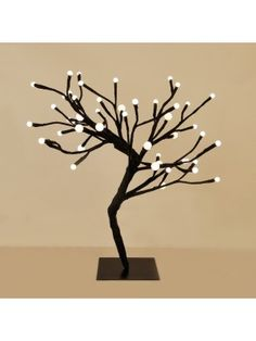 LED Bonsai Tree Table Lamp with Ball Tip Warm White Lights