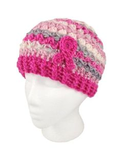 Breast Cancer Awareness Beanie - Free - via @Craftsy