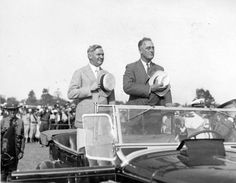 On August 27, 1932, New York governor and presidential candidate Franklin D. Roosevelt made his first campaign stop at the National Guard Camp in Sea Girt, New Jersey, where a crowd of over 100,000 enthusiastic people, organized by New Jersey governor A. Harry Moore and Mayor Frank Hague of Jersey City,  cheered the Democratic candidate.  Following a speech in which he promised to end Prohibition, FDR and Moore reviewed the New Jersey National Guard soldiers at the Camp.