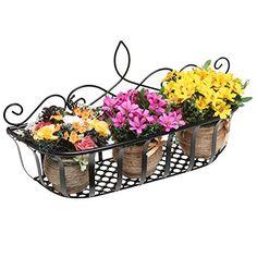 Wall Mounted Scrollwork Design Black Metal Home Storage Organizer Basket / Flower Pot Planter Rack MyGift http://www.amazon.com/dp/B00TI50F4O/ref=cm_sw_r_pi_dp_2dZ3vb16VEFJE