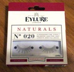 Eylure Naturals No 20 False Fake Eyelashes Reusable Lightweight - Glue Included