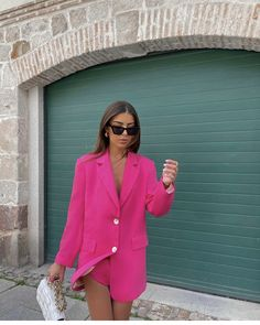 Pink Outfits, Trendy Outfits, Fashion Outfits, Womens Fashion, Spring Summer Fashion, Autumn Fashion, Look Blazer, Inspiration Mode, Petite Fashion