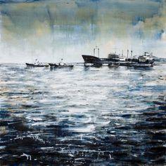 Vincenzo Todaro, (un)memory #006 - Sea, olio e acrilico su tela, 2009