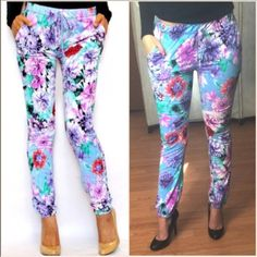 ❗️LAST PAIR - Trendy Floral Joggers MADE IN USA These stylish & comfy, trendy floral joggers are a guaranteed head turner. Made w/ elastic waistband, sits at regular waist, has a non functional front tie & functional pockets! Perfect for your normal everyday with a pair of kicks, with a crop top or any shirt tucked in with flats or pumps! Have S (2-4) M(6-8) and L(10-12) these retail at $68! Buy them here for $30 off! Price is Firm unless bundled. U may purchase this listing. Pic#4 modeled…