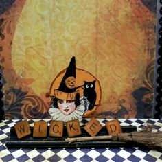 Spooky fun with Scrabble tiles and trays. Zetta's Aprons