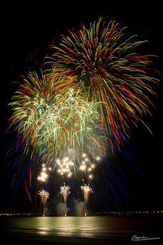 Fireworks in La Baule-Escoublac, Pays de Loire (France)