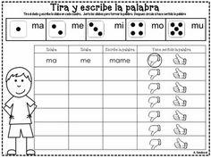 JUEGO DE SILABAS CON DADOS - TeachersPayTeachers.com