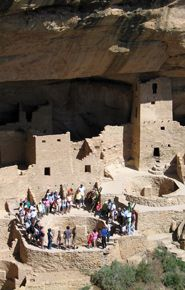 Tour at Cliff Palace, Mesa Verde National Park, Colorado