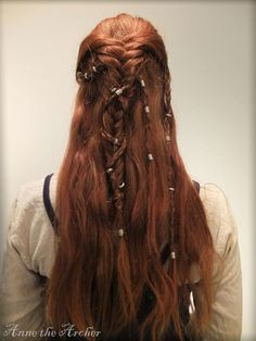 Beautiful Red Viking Braids