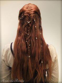 Viking Braids by annethearcher.deviantart.com on @DeviantArt