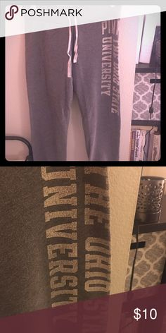 PINK sweat pants The Ohio State University crop sweats PINK Victoria's Secret Pants