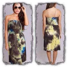 "Chic Bella's Virtual Closet | ""Kourney"" Fringe Tye-Dye Dress | Online Store Powered by Storenvy"