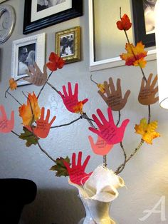 Thankful tree ~ going to do this with my Faith Formation class.