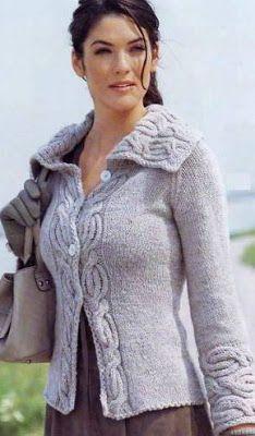 НАША СТРАНА МАСТЕРОВ: Жакет реглан спицами для женщин