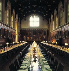 Christ Church, Oxford England (Hogwart's Dining Hall!) want to go here someday