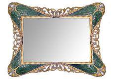 6x4 Rococo Mirror Tray, Olive on OneKingsLane.com