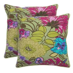 I NEEED THESE FOR MY SUMMER BEDDING! GORG!  I pinned this Blooms Pillow from the Pillows Under $50 event at Joss and Main!