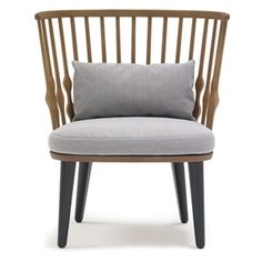 Nub Chair by Patricia Urquiola for Andreu World. love the modernized spindle back on the windsor chair