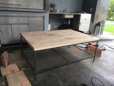 Mesa hierro y madera 1.35x 90x 55 ARS$8000
