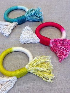 colorful & gorgeous!  hand dyed fiber bracelets by Cathy Callahan.