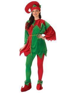 The Adult Elf Costume Set with Shoes is perfect for putting together your Christmas enemble. Wholesale Halloween Costumes will provide what you need, not limited to Halloween!