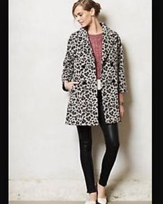 ANTHROPOLOGIE-Leopard-Trapeze-Coat-By-Elevenses-NWT-XS