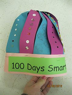 Great post with LOTS of math station ideas for the 100th day.