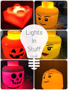 www.LightsInStuff.co.uk  LED LEGO Boy Lamp (S) - professionally assembled from Legos popular small storage containers using high quality components. Each product is fitted with a 7W LED Bulb for incredible efficiency and up to 14,000 hours of usage without ever getting hot. All components securely fitted with no access for maximum safety.  The lamp makes the perfect addition to any room with a soft glow and unique aesthetic. Ideal for enthusiasts of any age. Dimensions; (Small Storage Head)…