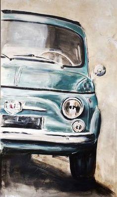 Anja Frackmann GALERIE Künstlerin Fiat 500 mit Atelier in Ismaning bei München Anja Frackmann GALERIE Artiste Fiat 500 avec studio à Ismaning près de Munich Fiat Cinquecento, Fiat 500l, Fiat Abarth, Citroen Ds, Fiat 500 Vintage, Vespa 50 Special, 1963 Chevy Impala, Red Vespa, Fiat Cars