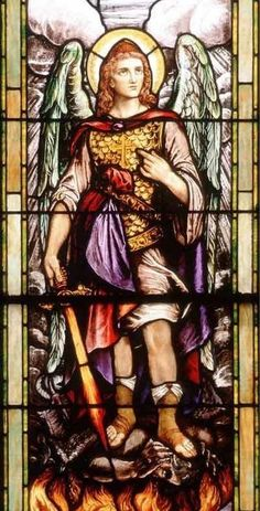 St. Michael the Archangel, the patron Saint of Police Officers, and of anyone who works in a dangerous job, including military personnel, firefighters and paramedics. St. Michael bolsters courage, off