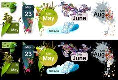 Blog Dates Template