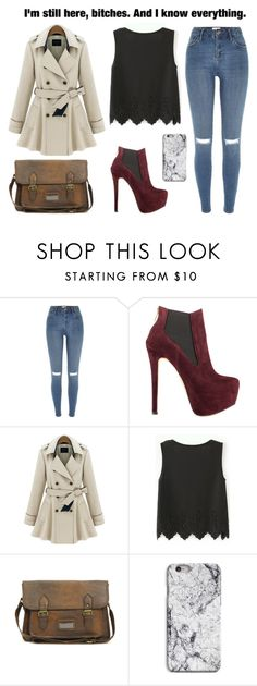 """""""So you can keep that b*tch over there giving' me the ugly stare. The one with the silicone a*s, and the Brazilian hair. You ain't gon' respect me no no no till I'm not there. See, I got you comfortable, now you ain't really scared!♫"""" by shaimae ❤ liked on Polyvore featuring River Island, Luichiny and ASOS"""