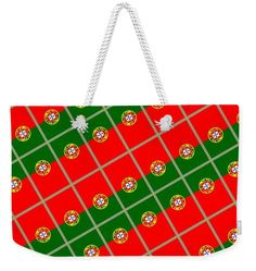 Portugal Weekender Tote Bag featuring the mixed media Portugal Tiled by Otis Porritt