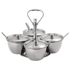 Buy Revolving Pickle Server / Relish Server online from Spices of India - The UK's leading Indian Grocer. Free delivery on Revolving Pickle Server / Relish Server (conditions apply). Stainless Steel Pot, Plastic Molds, Chutney, Indian Food Recipes, Pickles, Clean Eating, Kitchen Utensils, Kitchen Dining, Free Delivery