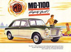 MG 1100 Hydrolastic Original Prospekt 1965 Morris Austin Leyland BMC Retro Cars, Vintage Cars, Vintage Signs, Classic Motors, Classic Cars, British Sports Cars, British Car, Austin Cars, Volvo Amazon