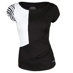 The Bolle Women's Masquerade Cap Sleeve Tennis Top is more than just your average tennis top. Featuring flashy black and white print on right sleeve and black on left, you'll enjoy this edgy look! Get it here >> http://www.tennisexpress.com/bolle-womens-masquerade-cap-sleeve-tennis-top-black-and-white-43859 #TennisExpress