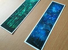 Watercolour Silhouette Bookmarks by LovelyOwlsCreations on Etsy