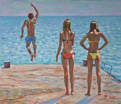 """Saatchi Art Artist Vyrvich Valentin; Painting, """"Jump"""" #art"""
