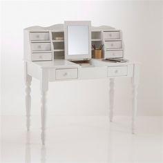 Bureau coiffeuse pin massif Authentic Style, coloris blanc prix Soldes La Redoute Interieurs 298.87 € TTC au lieu de 459 €