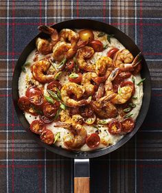 Polenta Bake With Shrimp | This Southern-inspired single skillet dinner is…