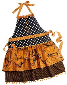 The Hostess Ghostess with the Mostess must have a Halloween apron.  This one is from Pier 1, but there are many available during October.  Halloween Brunch, Deviliciously Delicious!