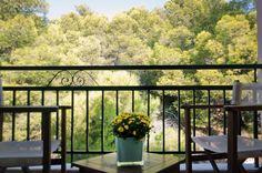 Guest room balcony - garden view Balcony Garden, Guest Room, Deck, Outdoor Decor, Home Decor, Decoration Home, Room Decor, Front Porches, Balcony Gardening