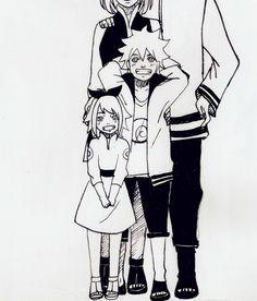 "rashelf: "" Uzumaki Family Kohana and Shinachiku"